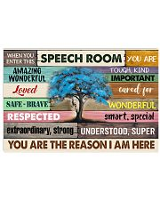 WHEN YOU ENTER THIS SPEECH ROOM POSTER 17x11 Poster front
