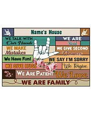 Personalized gift for your livingroom 17x11 Poster front