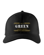 GREEN Embroidered Hat front