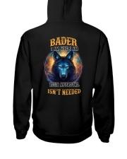 BADER Rule Hooded Sweatshirt back