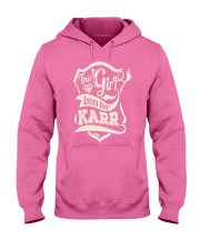 KARR with love Hooded Sweatshirt front