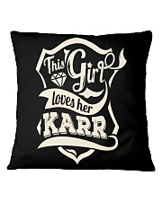 KARR with love Square Pillowcase tile