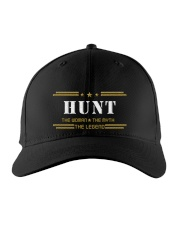 HUNT Embroidered Hat front