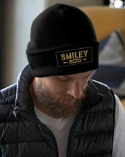 Smiley Legend Knit Beanie garment-embroidery-beanie-lifestyle-06