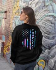 Tompkins Flag Crewneck Sweatshirt lifestyle-unisex-sweatshirt-back-2
