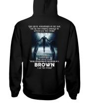 BROWN Storm Hooded Sweatshirt back