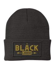 Black Legend Knit Beanie front