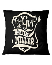 MILLER girl Square Pillowcase thumbnail