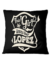LOPEZ 07 Square Pillowcase thumbnail