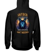 SNYDER Rule Hooded Sweatshirt back