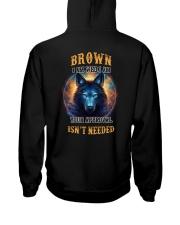 BROWN Rule Hooded Sweatshirt back