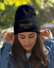 Browne Legend Knit Beanie garment-embroidery-beanie-lifestyle-07
