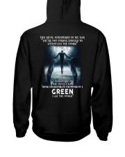GREEN Storm Hooded Sweatshirt back