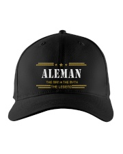 ALEMAN Embroidered Hat front