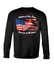 49 Veteran Land Of The F R E E Crewneck Sweatshirt thumbnail