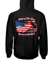 49 Veteran Land Of The F R E E Hooded Sweatshirt back
