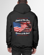 49 Veteran Land Of The F R E E Hooded Sweatshirt garment-hooded-sweatshirt-back-01