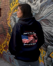 49 Veteran Land Of The F R E E Hooded Sweatshirt lifestyle-unisex-hoodie-back-1