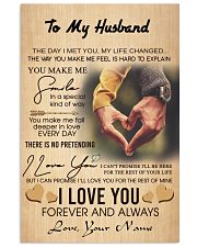 Personalized gift for Husband 24x36 Poster front