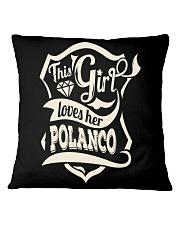 POLANCO with love Square Pillowcase thumbnail
