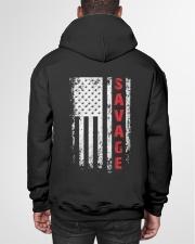 SAVAGE 01 Hooded Sweatshirt garment-hooded-sweatshirt-back-01