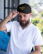 Ruby Legend Embroidered Hat garment-embroidery-hat-lifestyle-05
