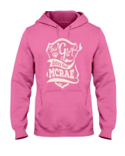 MCRAE with love Hooded Sweatshirt front