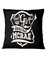 MCRAE with love Square Pillowcase thumbnail