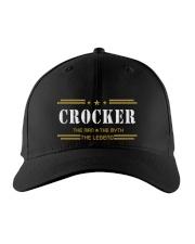 CROCKER Embroidered Hat front