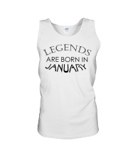 Legends are born in January Unisex Tank thumbnail