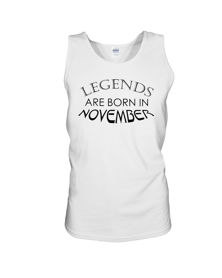 Legends are born in November Unisex Tank
