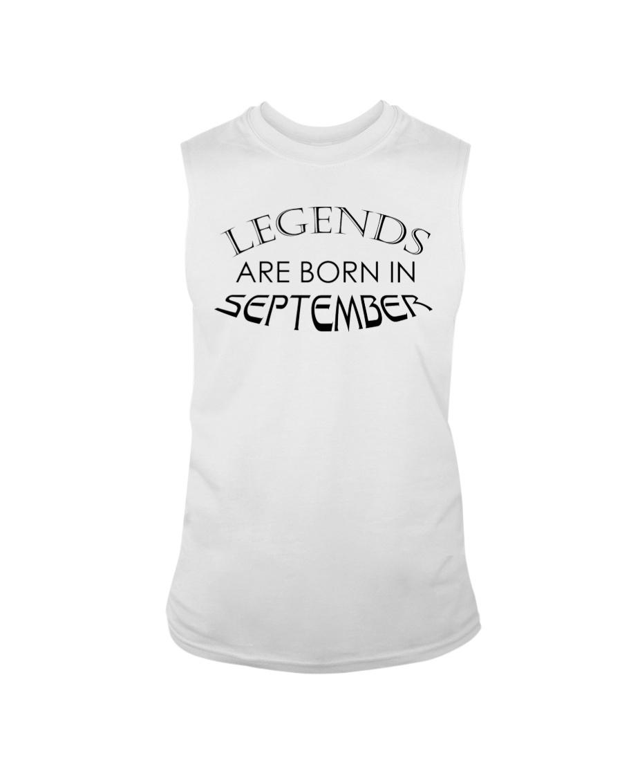 Legends are born in September Sleeveless Tee