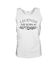 Legends are born in September Unisex Tank thumbnail