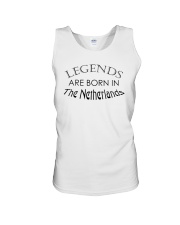 Legends are born in The Netherlands Unisex Tank thumbnail