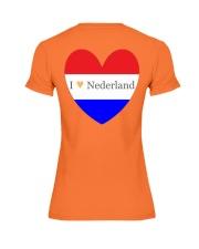 I love Nederland Premium Fit Ladies Tee back