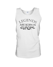 Legends are born in Europe Unisex Tank thumbnail