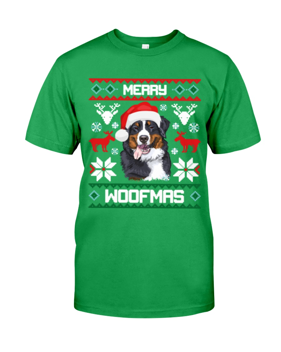 Merry Woofmas Bernese Mountain Dog Classic T-Shirt