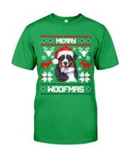 Merry Woofmas Bernese Mountain Dog Classic T-Shirt front
