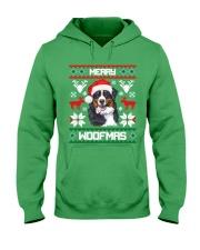 Merry Woofmas Bernese Mountain Dog Hooded Sweatshirt thumbnail