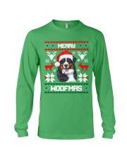 Merry Woofmas Bernese Mountain Dog Long Sleeve Tee thumbnail