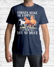 Horse Horses Make Me Happy Classic T-Shirt lifestyle-mens-crewneck-front-1
