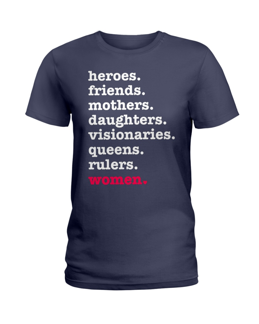 Heroes Friends Mothers Women Ladies T-Shirt
