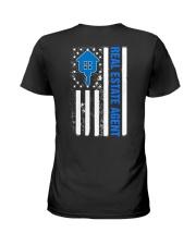 Realtor Flag American Ladies T-Shirt back