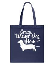Dachshund Crazy Wiener Dog Mom Tote Bag thumbnail