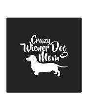 Dachshund Crazy Wiener Dog Mom Square Coaster thumbnail