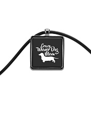 Dachshund Crazy Wiener Dog Mom Cord Rectangle Necklace thumbnail