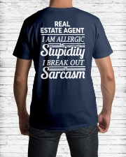 Real Estate Agent Sarcasm Classic T-Shirt lifestyle-mens-crewneck-back-1
