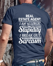Real Estate Agent Sarcasm Classic T-Shirt lifestyle-mens-crewneck-back-2