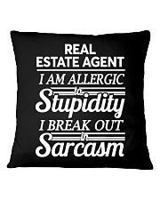 Real Estate Agent Sarcasm Square Pillowcase thumbnail