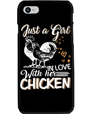 A Girl In Love With Her Chicken Phone Case thumbnail